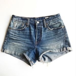 Levis White Oak Cone Selvedge Denim Shorts Size 28